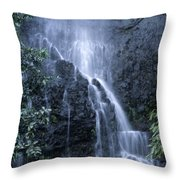 Road To Hana Waterfall Throw Pillow