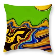 Road To Mars Throw Pillow