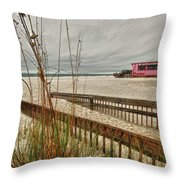 Road To Pink Pony Throw Pillow