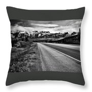 Road To Rocks  Throw Pillow