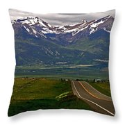 Road To The Sangre De Cristos Throw Pillow