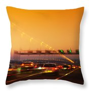 Road Traffic Throw Pillow