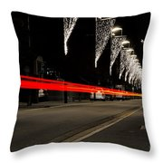 Road With Lights Throw Pillow