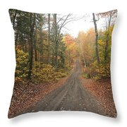 Roads Less Traveled Throw Pillow