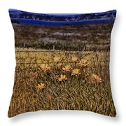 Roadside Flowers Throw Pillow
