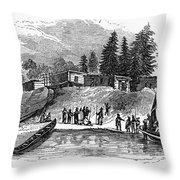 Roanoke: Colony, C1587 Throw Pillow