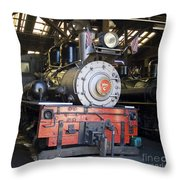 Roaring Camp West Side Shay Throw Pillow