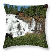 Roaring Falls Glen Alpine Falls Throw Pillow