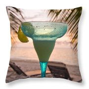 Roatans West Bay, Tropical Drink Throw Pillow