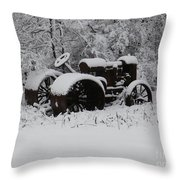 Robed In White Throw Pillow