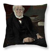 Robert Bunsen, German Chemist Throw Pillow
