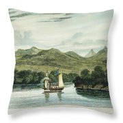 Robert Fultons Clermont Throw Pillow