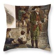 Robert Raikes (1735-1811) Throw Pillow by Granger