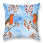 Robin Singing Competition Throw Pillow