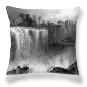 Rochester: Genesee Falls Throw Pillow
