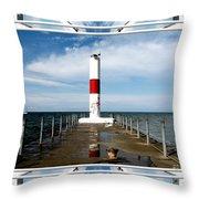 Rochester New York Harbor Lighthouse Throw Pillow