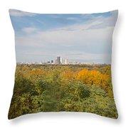 Rochester Skyline Panorama Throw Pillow