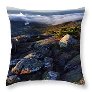 Rock And Fog Throw Pillow