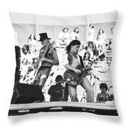Rock And Roll At Day On The Green 1975 Throw Pillow