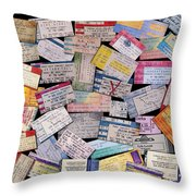 Rock And Roll Memories Throw Pillow