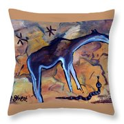 Rock Art No 2 Beast And Adder Throw Pillow