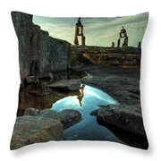 Rock Balancing Grand Marais Throw Pillow
