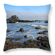 Rock Beach Throw Pillow