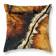 Rock Detail, Killarney Provincial Park Throw Pillow