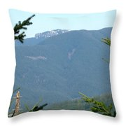 Rock Formation On The Ridge Throw Pillow