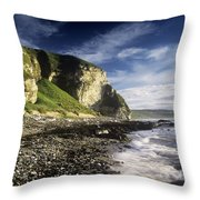 Rock Formations At The Coast Throw Pillow