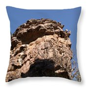 Rock Formations Bhimbhetka Throw Pillow