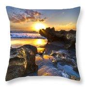 Rock Garden Throw Pillow by Debra and Dave Vanderlaan