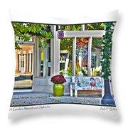Rock Garden Throw Pillow