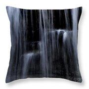 Rock Glen Water Falls Throw Pillow