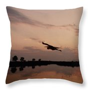 Rock Hall Heron Throw Pillow