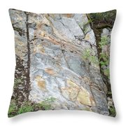 Rock In A Hard Place Throw Pillow