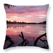 Rock Lake Throw Pillow