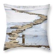 Rock Lake Crossing Throw Pillow