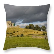 Rock Of Cashel, Cashel, County Throw Pillow