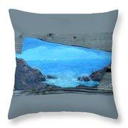 Rock Painting-ocean Sailboats Throw Pillow