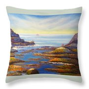 Rock Pools At North Beach Wollongong Throw Pillow