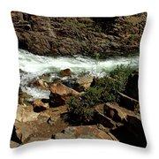 Rock Rush Glen Alpine Creek Throw Pillow