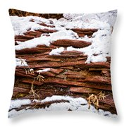 Rock Sandwich With Snow Icing Throw Pillow