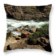 Rock Steps To Glen Alpine Creek Throw Pillow