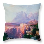 Rock Towers Of The Rio Virgin Throw Pillow