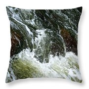 Rock Tumbler Throw Pillow