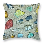 Rock Wall Abstract Throw Pillow