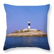 Rockabill, Off Skerries, Co Dublin Throw Pillow