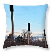 Rockets Arrows Or Bat Houses Throw Pillow