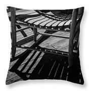 Rocking Chair Lit By The Afternoon Sun Throw Pillow